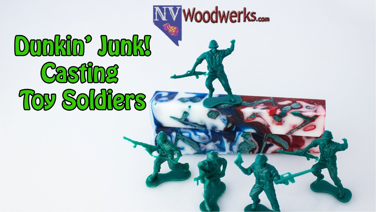 Dunkin Junk - Casting Toy Soldiers in Alumilite