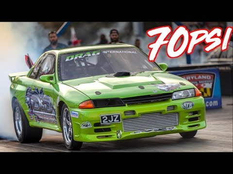 1800HP Skyline R32 GTR on 70PSI  Breaks 6's!