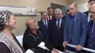 Cumhurbaşkanı Erdoğan ve Başbakan Yıldırım, Mersin'de hastaları ziyaret ettiler - 03.02.2017