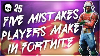5 Crucial Mistakes You May Be Making In Fortnite! (How To Get Better Console Battle Royale Tips)