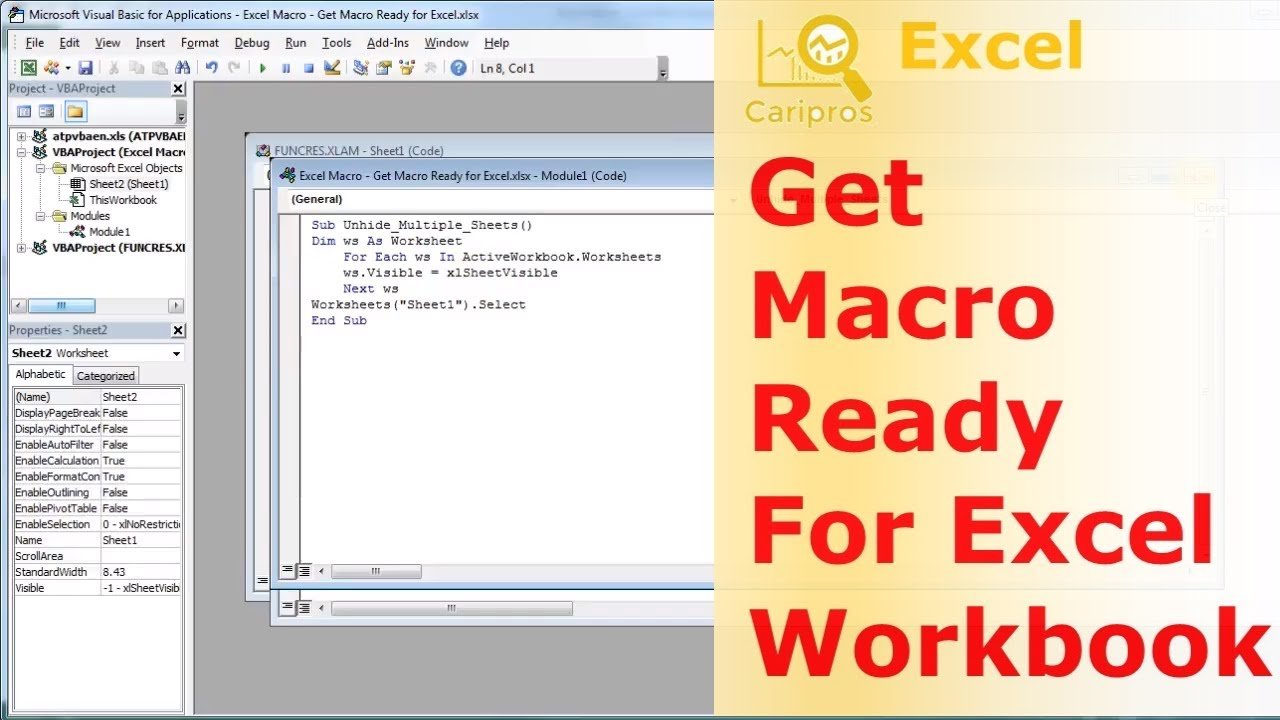 How to get Macro/VBA ready for Excel workbook - YouTube