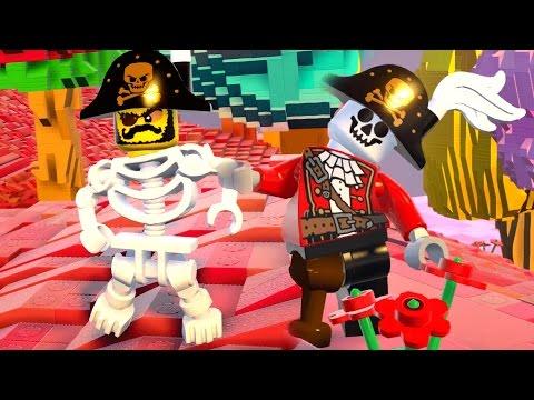 LEGO Worlds PT BR #24 - ESQUELETO PIRATA OU PIRATA ESQUELETO?