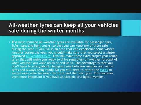 All-weather tyres can keep all your vehicles safe during the winter months
