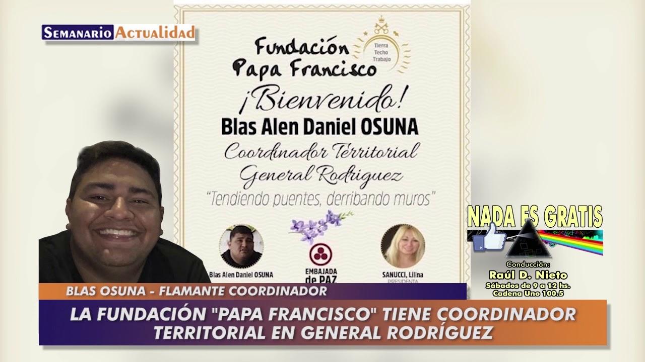 La Fundación Papa Francisco tiene coordinador territorial en General Rodríguez