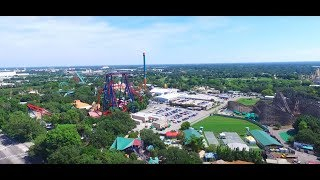Bush Gardens Tampa Florida view from Phantom 3
