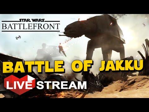 Star Wars Battlefront Gameplay: HUGE Battle of Jakku, Force Awakens DLC (Live Stream)
