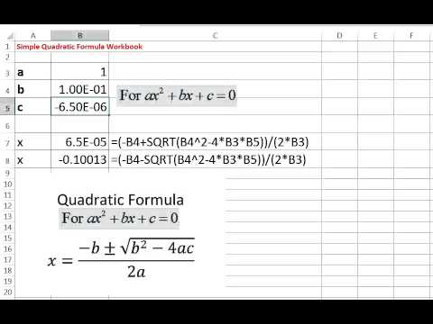 How to graph quadratic functions in excel