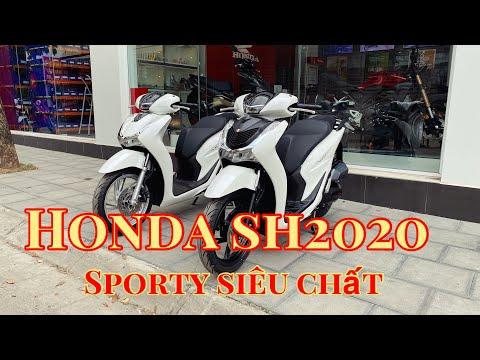 Honda Sh 2020 màu trắng độ spoty siêu chất | giá xe | lắp phụ kiện