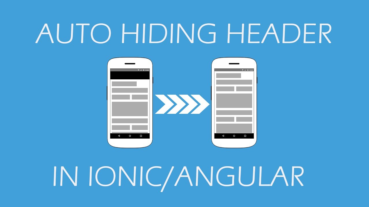 Auto Hiding Header on Scroll in Ionic
