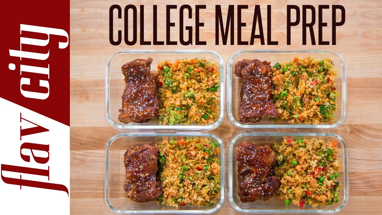 Meal Prep For A College Student Meal Prepping Youtube