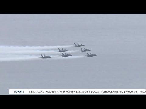 Blue Angels Make Surprise Flyover During U.S. Naval Academy Graduation
