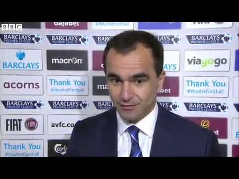 Roberto Martinez interview - Aston Villa 0-2 Everton [26/10/2013]