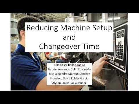 Reducing Machine Setup and Changeover Time