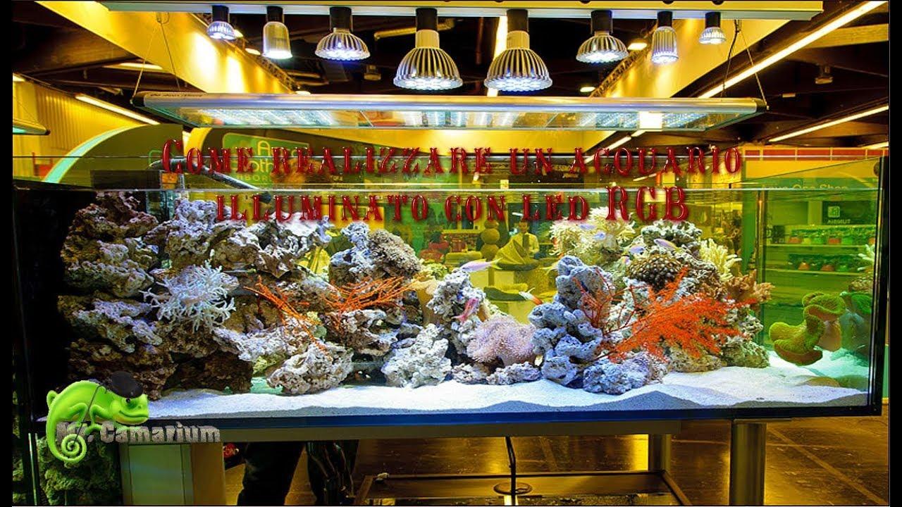 Plafoniera Led Rgb : Come realizzare un acquario illuminato con led rgb youtube