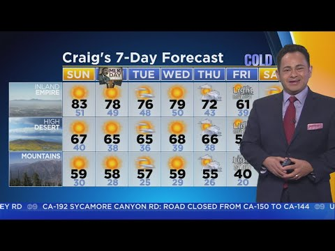 Craig Herrera's Weather Forecast (Jan. 14)