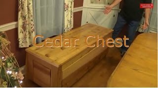 Handmade Western red cedar hope chest. Everything was hand planed, mortise and tenon joinery with floating raised panels.