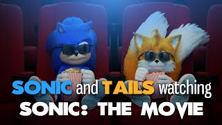 Sonic and Tails watching Sonic the Movie