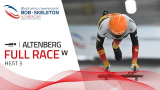 Altenberg | BMW IBSF World Championships 2021 - Women's Skeleton Heat 3 | IBSF Official