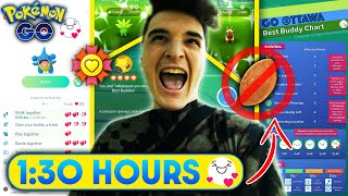 *NO POFFIN* EXCITED BUDDY in 1 & 1/2 HOURS in POKEMON GO | you can do it faster though 👀