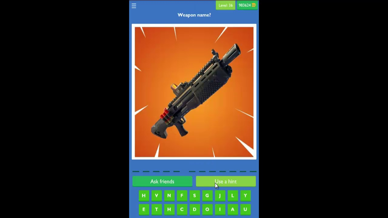 Guess The Picture Quiz For Fortnite Level 31 40 Answers Youtube