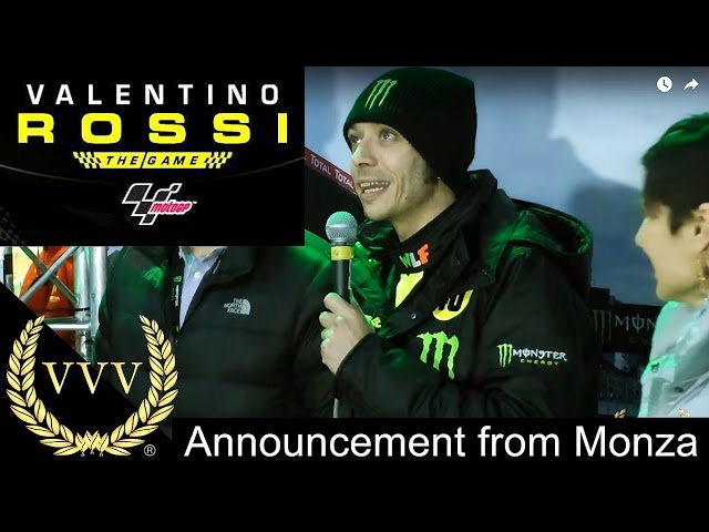 Valentino Rossi The Game - Announcement from Monza