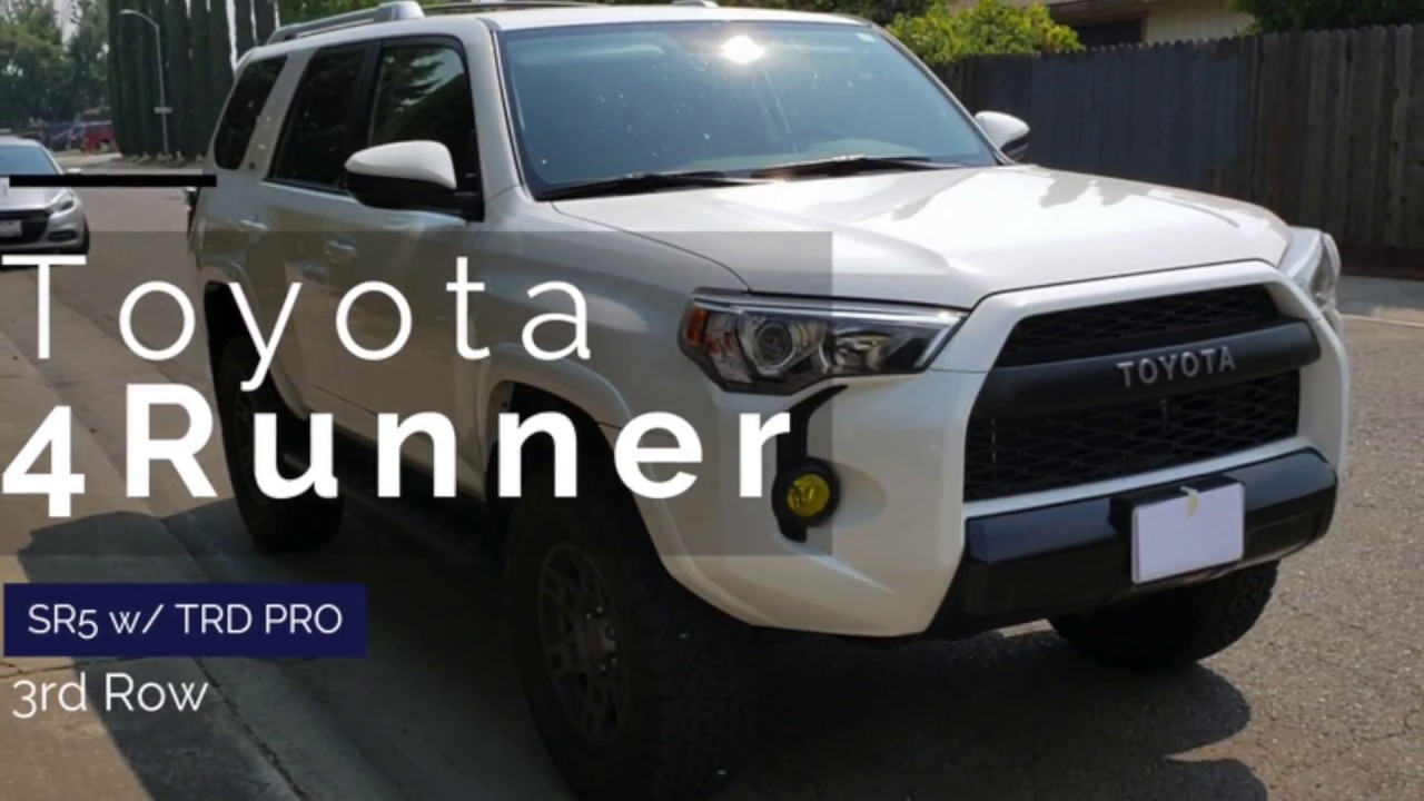 2017 toyota 4runner sr5 3rd row with trd pro front end youtube. Black Bedroom Furniture Sets. Home Design Ideas