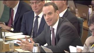 Dominic Raab questions David Davis on the so called 'risks' of the Brexit negotiations