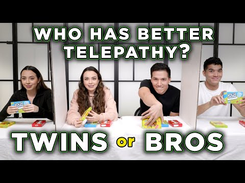 TWINS Vs BROTHERS REAL TELEPATHY TEST - Merrell Twins