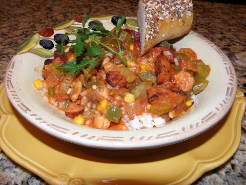 Spicy Sausage and Seafood Gumbo