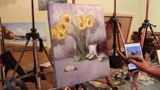 Живопись маслом. Макс скоблинский.Полный урок маслом.как рисовать цветы