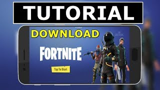 FORTNITE APK BETA ANDROID-TUTORIAL HOW TO DOWNLOAD