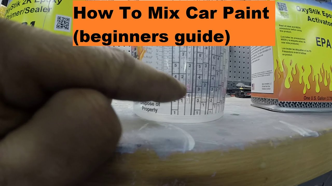 How To Mix Car Paint (beginners guide)