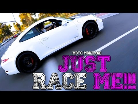 RACE ME Porsche 911 Carrera GTS!! - Exhaust TOO LOUD! - Red Light RUNNER!