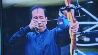 Presiden Jokowi Ikuti Lomba Memanah , Hasilnya Cukup Mengejutkan | CNN Indonesia