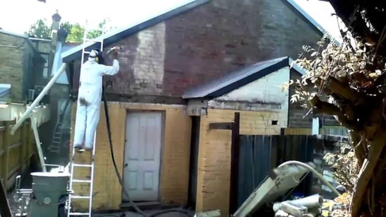 How To Remove Old Exterior Paint From Brick Buildings Walls Without Chemicals Youtube