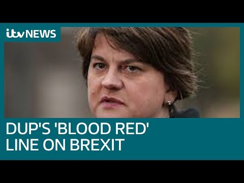 Arlene Foster's 'blood red' line puts Brexit deal on a knife-edge | ITV News