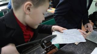 Елементи уроку з трудового навчання в 6 В класі