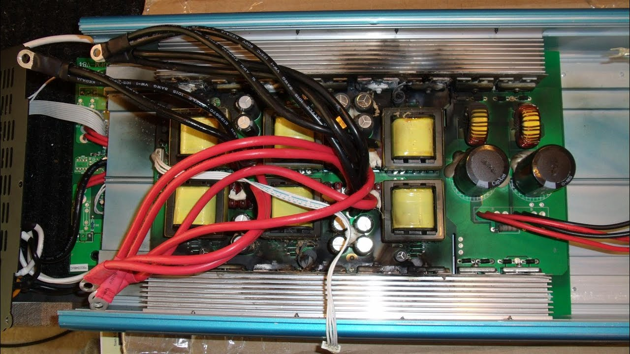 10 Circuit Transfer Switch Generac Wiring Diagram Inside A Burnt Up 6000w Inverter A Salvage Operation
