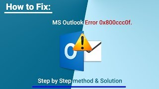"""Fix Outlook Error 0x800ccc0f """"Outlook data file cannot be accessed"""""""