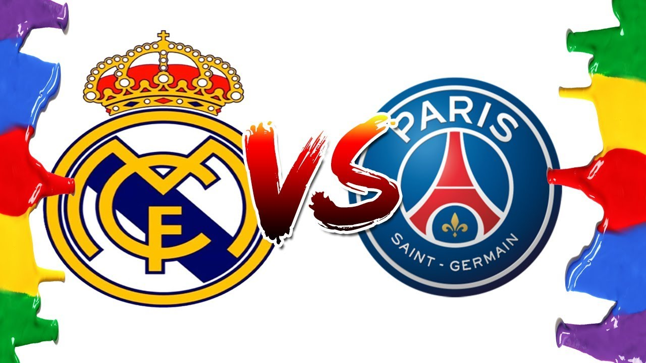 Coloring Pages Xbox 360 : How to draw and color real madrid vs psg champions league logos