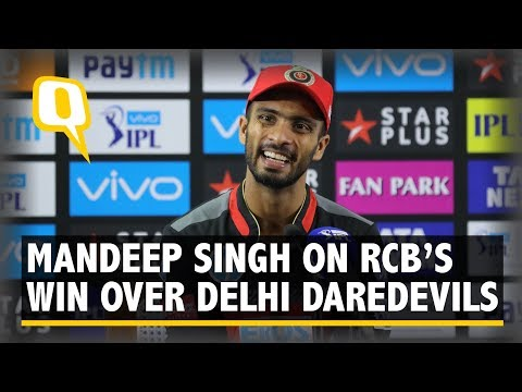 Mandeep Singh on Royal Challengers Bangalore's victory over Delhi Daredevils