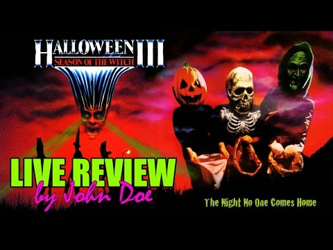 Halloween 3 (1982) - LIVE REVIEW - CRÍTICA - John Doe - Tommy Lee Wallace