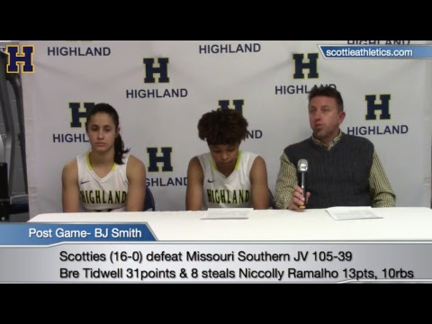 Post Game- Highland Women's basketball vs Missouri Southern State Univeristy