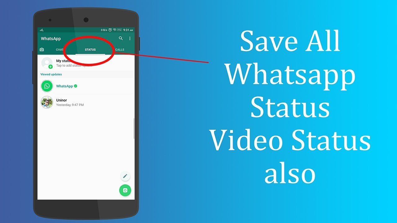 Save Whatsapp Status Without Screenshot Save Videos Status Also