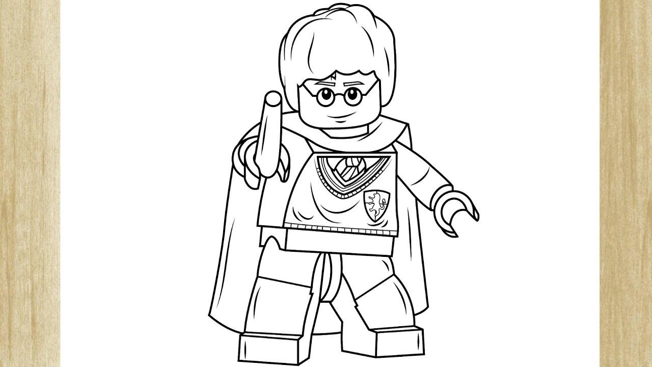 Como Desenhar O Lego Harry Potter Youtube