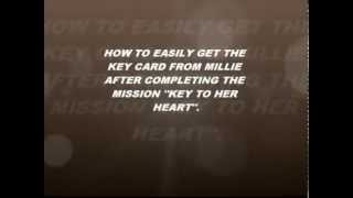 "How to easily get the keycard from millie after completing the mission ""key to her heart"" in gta san"