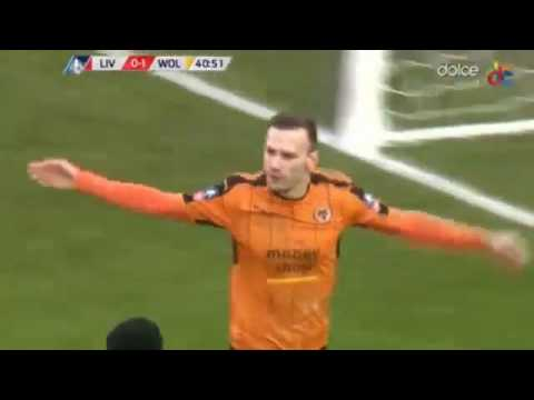 Andreas Weimann Goal Liverpool vs Wolves 0-2 28.01.2017