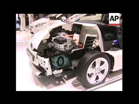 Car manufacturers unveiled a range of electric cars and hybrid engines at this year