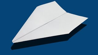 How to make a paper airplane that flies 10000 feet easy step by step - Origami world record plane