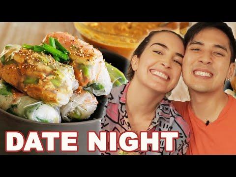 Merle & Aria Date Night | Vegan Spring Rolls